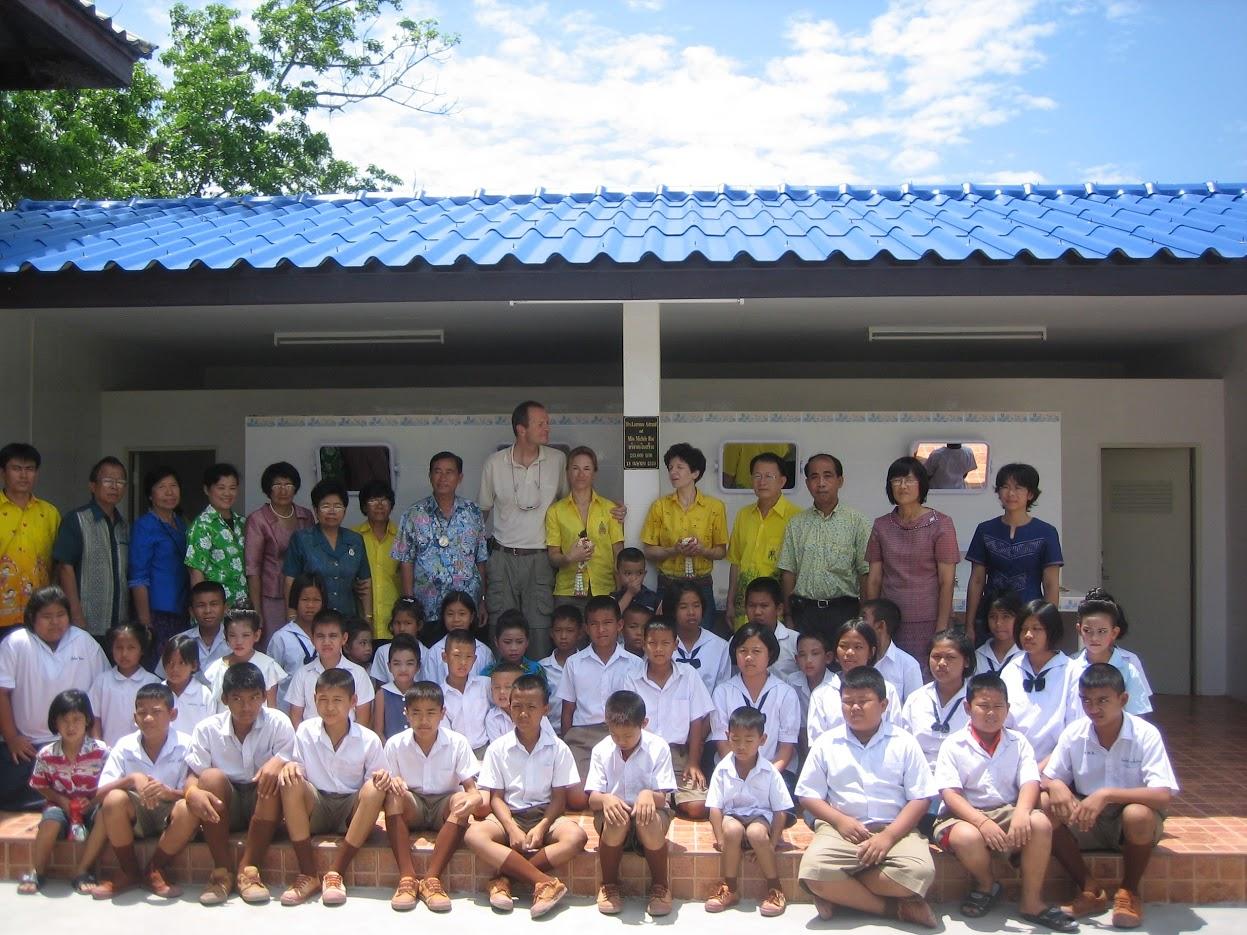Install. sanitaires , Wat Huay Prachan school