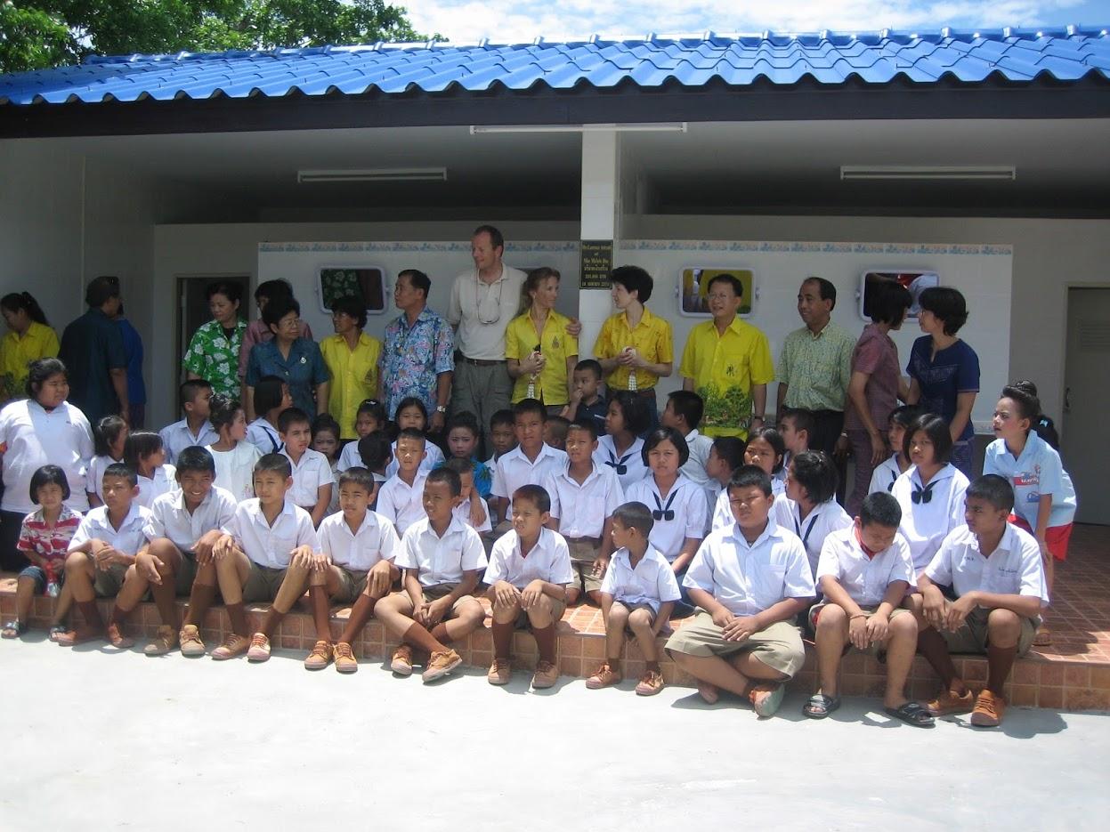 inauguration inst. sanitaires Wat Huay Prachan
