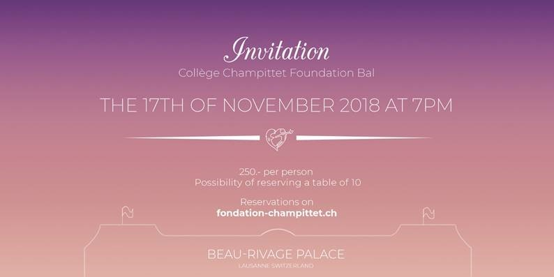 Collège Champittet Foundation Bal